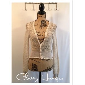 Anthropologie Knitted Knotted Boho Cardigan
